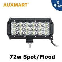 Auxmart 7 дюймов CREE Чипов 72 Вт Свет Работы СИД Бар Spot/Наводнение луч Противотуманные Фары Fit Offroad Вождения Автомобиля Лодка ATV RZR 12 В 24 В