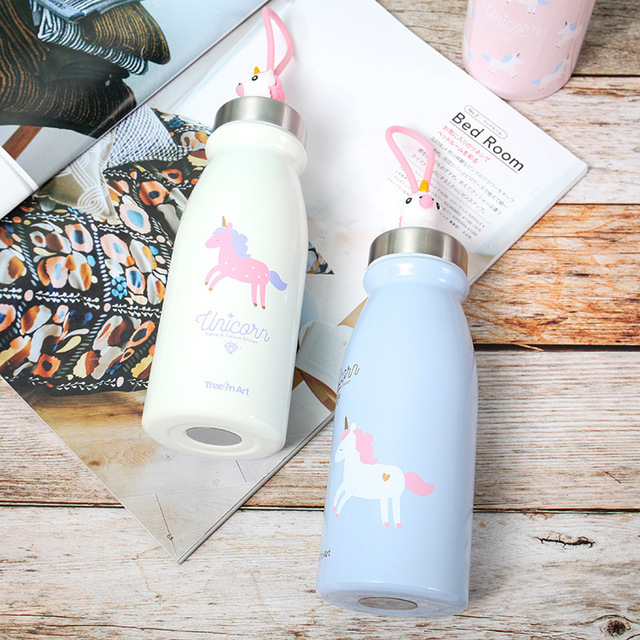 Cute Rainbow Unicorn Water Bottle