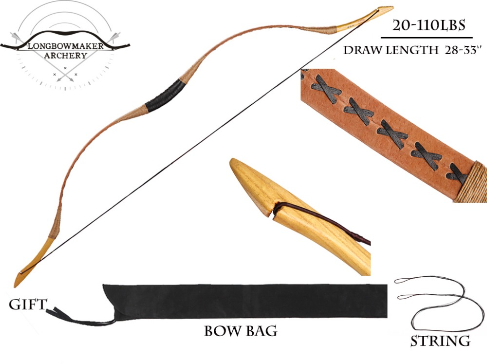 20-110 lb Ali Bow Traditional Handmade Hungarian Pigskin Horse Longbow Archery Hunting Recurve Bow Fiberglass Bow longbowmaker handmade red pigskin kids bow archery hungarian style longbow for beginner 10 25lbs prp