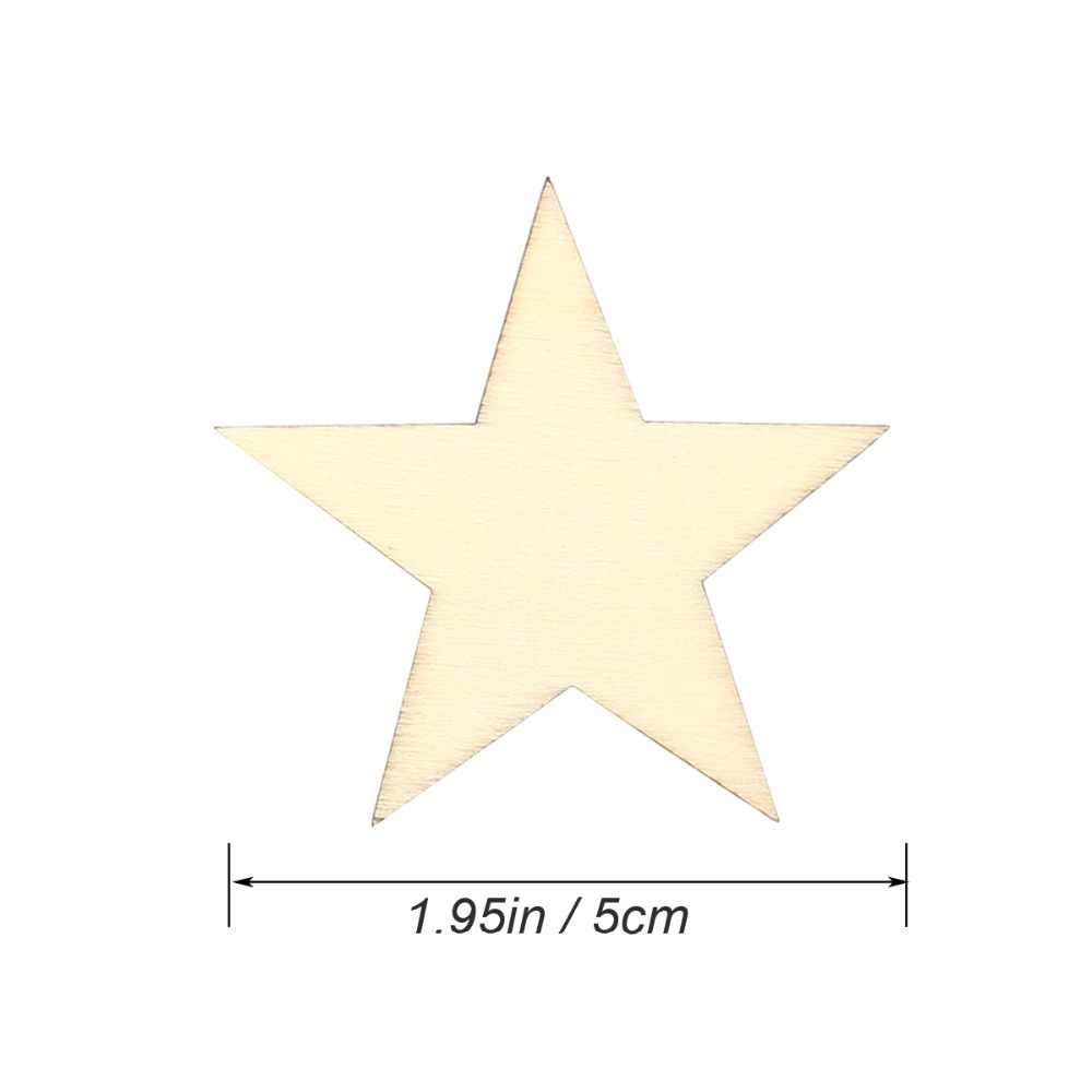 DIY Disc Unfinished Wood Star Wood Pieces Wooden Cutouts Ornaments for  Craft Supplies Decoration Laser Engraving Carving