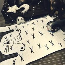 Tiger Printed Carpet Imitation Leather Rugs Animal Skins Natural Shape Decoration Mat Children slip game crawling