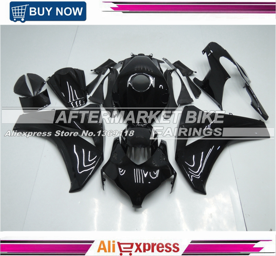 For Honda CBR1000RR 2008 2009 2010 2011 Motorcycle Aftermarket ABS All Gloss Complete Fairing Kit arashi motorcycle radiator grille protective cover grill guard protector for 2008 2009 2010 2011 honda cbr1000rr cbr 1000 rr
