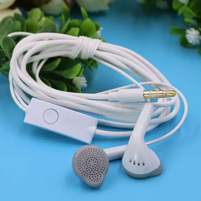 Classical Sports White Original Earphone For Samsung with Microphone For Note 4 iphone 5s