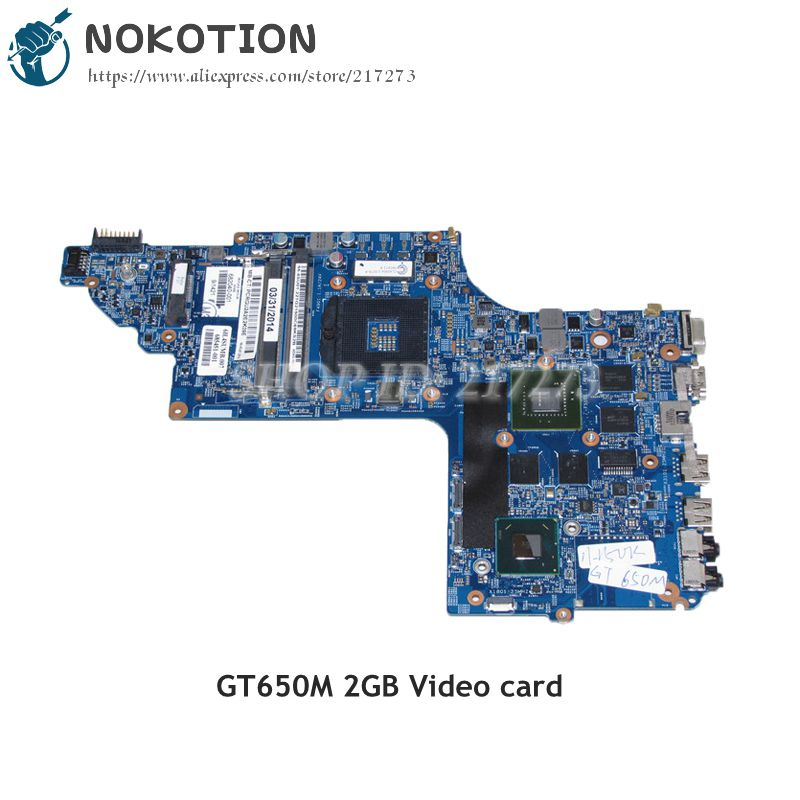 NOKOTION 682040-501 682040-001 48.4ST06.021 MAIN BOARD For HP DV7-7000 Laptop Motherboard HM77 DDR3 GT650M 2GB Video card 682040 501 682040 001 for hp pavilion dv7 dv7t dv7 7000 laptop motherboard 17 inch gt650m 2g graphics