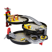 3 Levels Car Garage Play Set Parking Toys For Kids Model Building Kits Portable Wheel Shape Suitcase