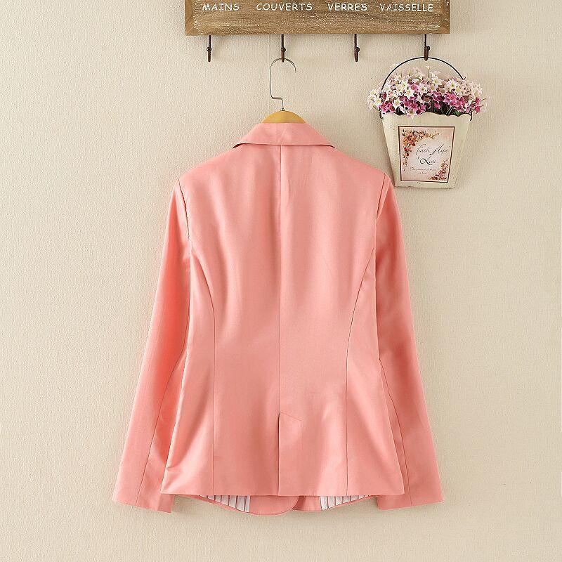 NOWY blazer kobiety kostiumu blezer składana marka kurtka wykonana z bawełny i elastanu z podszewką Vogue odśwież blazers 14