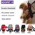 Hoopet carrier dog fashion rojo color de viaje mochila perro transpirable bolsos del animal doméstico del perrito del animal doméstico del portador