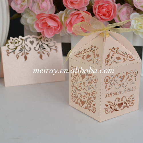 Return Gifts For Wedding Guests: Laser Cut Wedding Favors Paper Gift Box For Guest, Indian