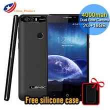 LEAGOO KIICAA PUISSANCE 4000 mAh 5.0 pouce MT6580A Quad Core 2 GB RAM 16 GB Android 7.0 Téléphone Mobile Empreinte Smartphone