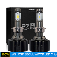 SAFEVIEW 50w car d2s d2r led headlight bulb waterproof car driving With CSP SEOUL WICOP LED Chip automobiles lighting bulb 5000k