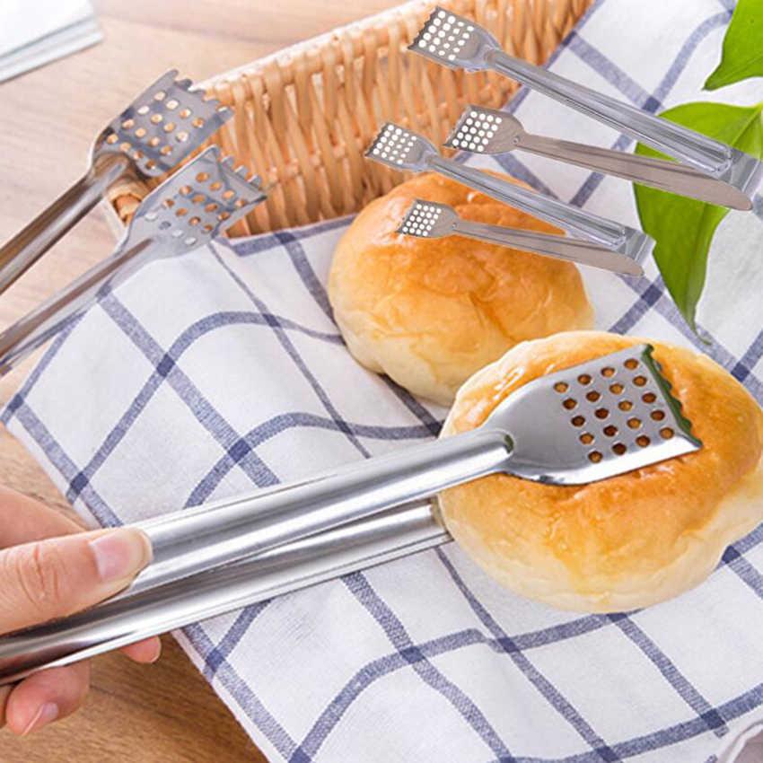 1 pc Braed Penjepit Makanan Kitchen Buffet Memasak Alat Stainless Steel Anti Panas Penjepit Penjepit Barbekyu Roti Klip Pastry