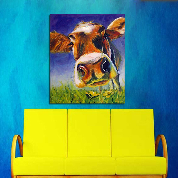 Handpainted Canvas Painting For living room home Decor Pictures Wall ...