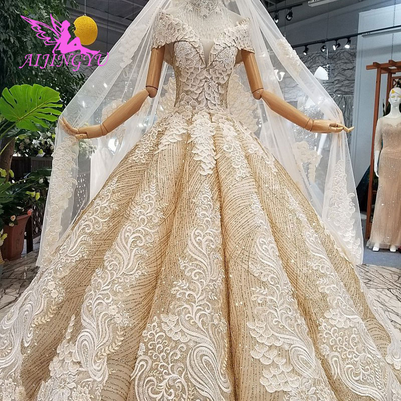 AIJINGYU Wedding Dress Butterfly Vegas Weddings Bride Modest With Lace With Sleeves Corset 2019 Wedding Gowns Online Sale
