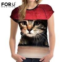 FORUDESIGNS-Black-3D-Cat-Animal-Women-Casual-T-Shirt-Brand-Clothing-Women-Short-Sleeved-Breathable-Tshirt-Female-Fitness-Tops-2