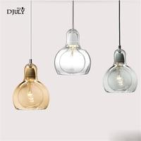 Nordic Big Bulb Shape Galss Pendant Lights Living Room Modern Decor Coffee Store Bar Hanging Lamp Kitchen Led Lighting Fixtures