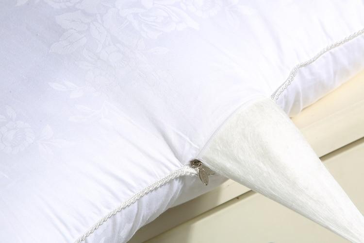 100 หม่อนผ้าไหมหมอนปักหมอน 48*74 เซนติเมตรโรงแรมระดับห้าดาวหมอนผ้าไหมสำหรับนอนหลับสุขภาพ-ใน หมอนอิง จาก บ้านและสวน บน   3
