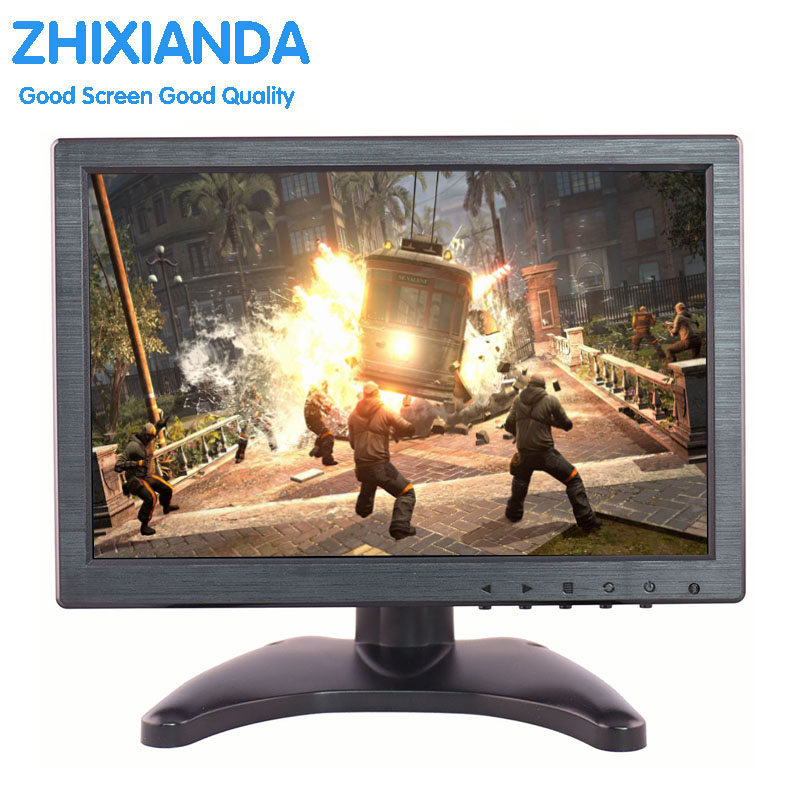 10.1'' Widescreen 1280x800 IPS LED Panel 1080P Monitor Support HDMI Game Console /Raspberry Pi With AV/BNC/VGA/HDMI/USB Input, цена и фото