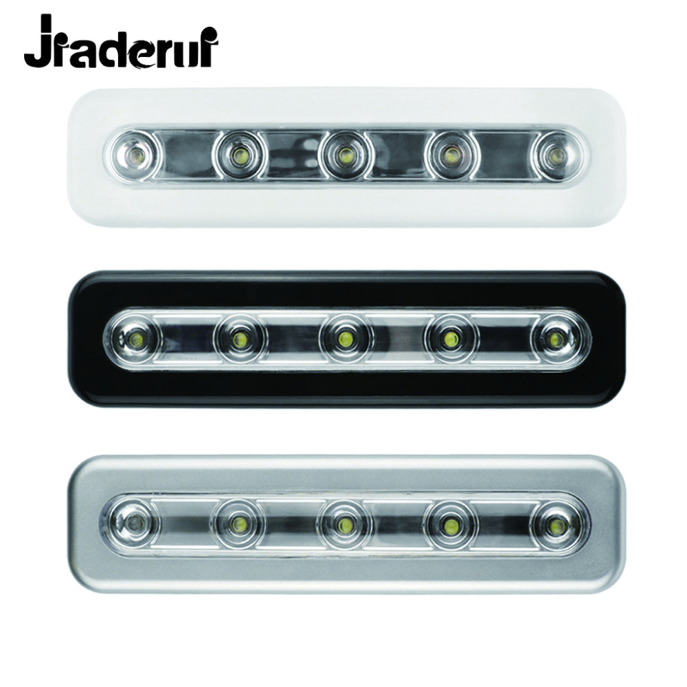 Jiaderui Mini 5 LED Closet Lamps Battery Operated Kitchen Cabinets Wireless Wall Light Lamps for Home Kitchen Cabinets Lighting
