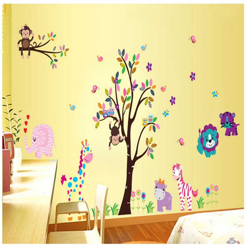 Cartoon Kindergarten bedroom decorate children room wall stickers ...