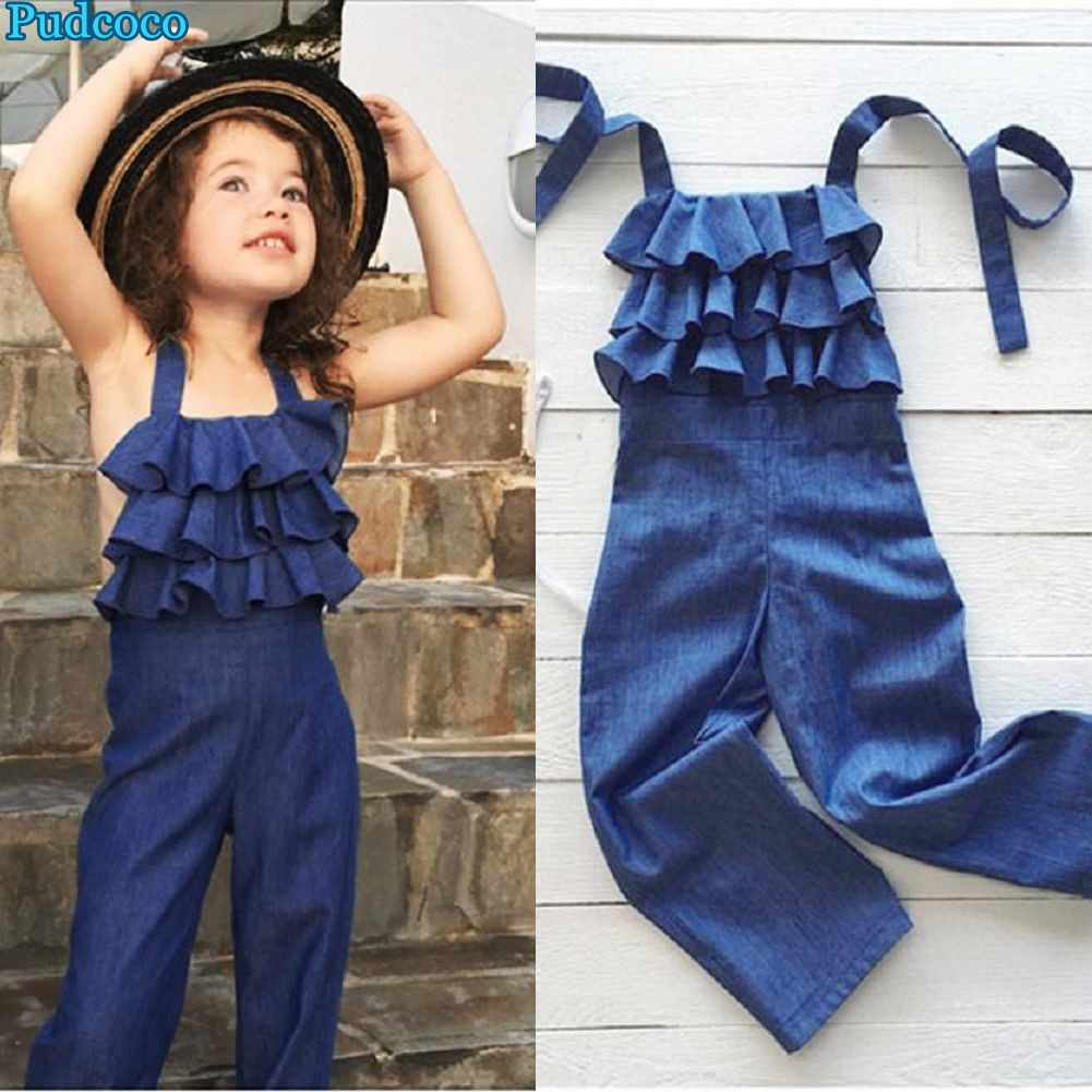 2ee435e96067 Detail Feedback Questions about Pudcoco 2019 Brand New Toddler Kids Girls  Casual Halter Denim Bib Pants Romper Jumpsuit Playsuit Outfit on  Aliexpress.com ...