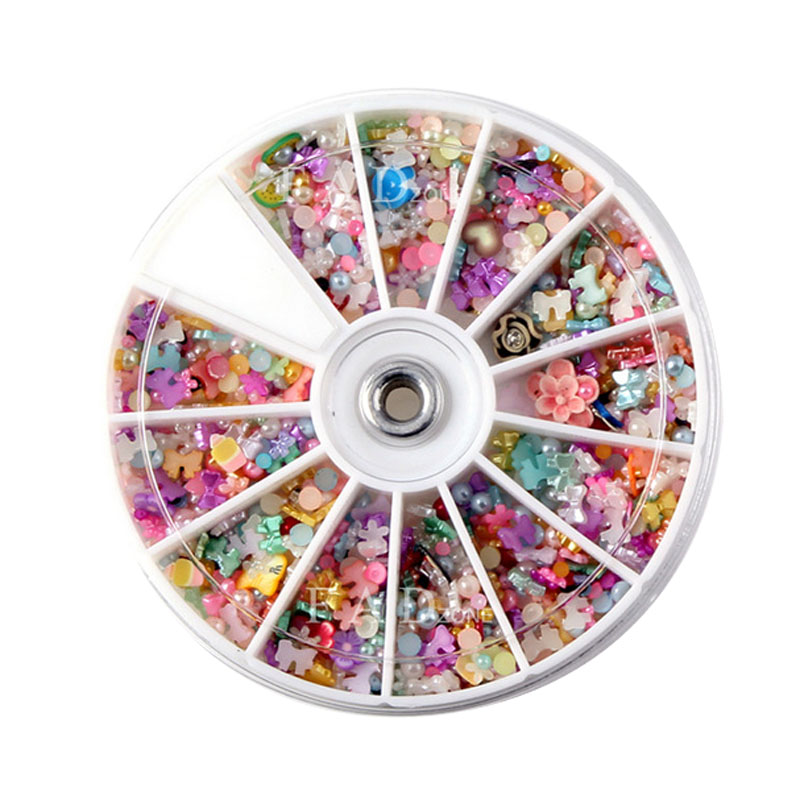 1Box Mixed Haft Pearl Beads For Needlework FlatBack Scrapbook Decoration Craft Cabochon DIY Embellishments Accessories(China)