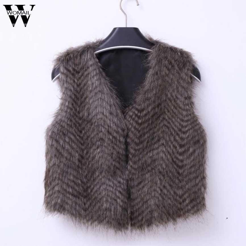Charmdemonフェイクファーベスト女性暖かい冬コートファッションジャケット生き抜くabrigosのmujerアメージングdr14