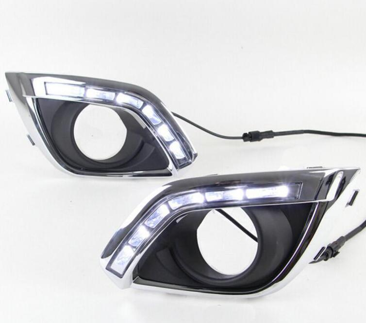Car styling LED DRL Daytime Running Ligh front fog bumper lamp For OPEL ANTARA 2010 2011 2012 2013 2014 2PCS