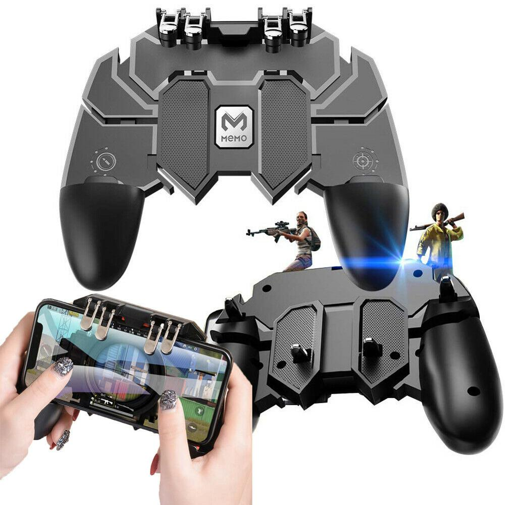 New Mobile Game Controller AK66 Six Fingers PUBG Gamepad Trigger Aim Button L1R1 Shooter Joystick for IOS Android Mobile Phone
