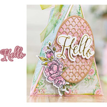 Hello Metal Cutting Dies for Scrapbooking and Cards Making Paper Craft New 2019