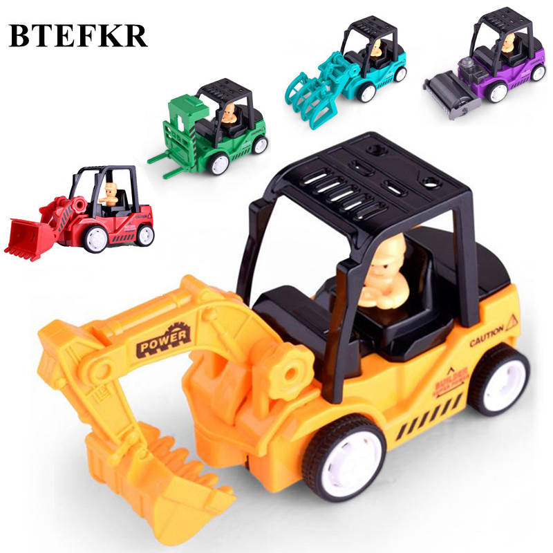 Baby kids Mini Car Toys Vehicle Sets Construction Bulldozer Excavator Engineering Vehicle Baby Kid Educational Toy Birthday Gift