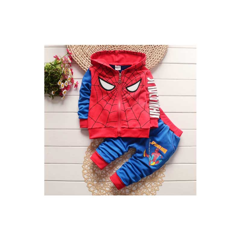Spiderman Children Super Hero Cape and Mask for Boys, Costume for Kids Birthday Party, Pretend Play, Dress Up Product - Spiderman Unisex-Child Zip Up Mask Costume Hoodie Sweatshirt Red 2 .