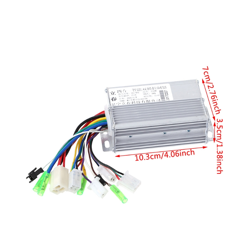OOTDTY Aluminium 36V/48V 350W Electric Bicycle E-bike Scooter Brushless DC Motor Controller