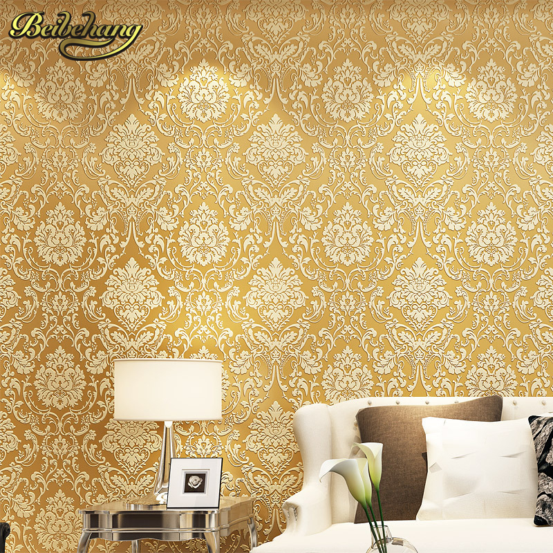 beibehang Flower wall paper damask wallpaper roll vintage TV background wall wallpaper wallcovering bedroom wallpaper sofa beibehang wall coverings mural wall paper roll bedroom sofa off white textured feature europe vintage glitter damask wallpaper