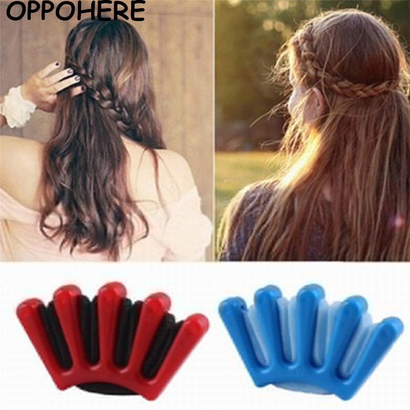 где купить 2017Fashion DIY Women Wonder Sponge Hair Braider Twist Styling Braid Tool Holder Hair Clip Styling Tools hair accessories по лучшей цене