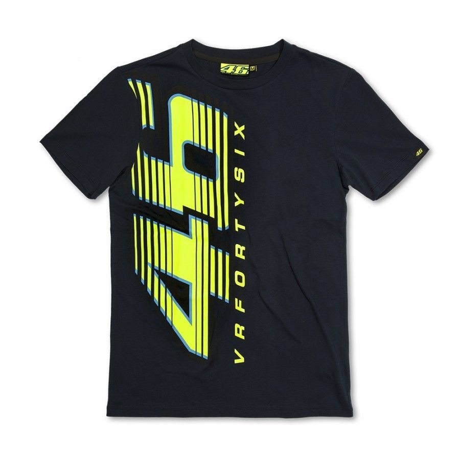 <font><b>2015</b></font> <font><b>New</b></font> Valentino <font><b>Rossi</b></font> VR46 Forty Six T - VRMS Black <font><b>Motorcycle</b></font> <font><b>Motocross</b></font> motorcycling T-shirt Big 46 Monza GP T shirt MOTO JE