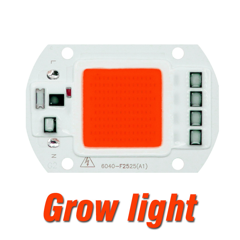 Светодиодный Grow COB Чип Фито лампа полного спектра AC220V 110V мощностью 10 Вт, 20 Вт, 30 Вт, 50 Вт, ручная сборка для комнатных растений рост рассады и цветок роста растений фитолампа - Испускаемый цвет: Grow Light