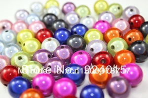 Freeshipping!300pcs/6mm Mixed Color Acrylic Round Miracle Beads/perles Magiques Beads For Beading Bracelet Jewelry DIY