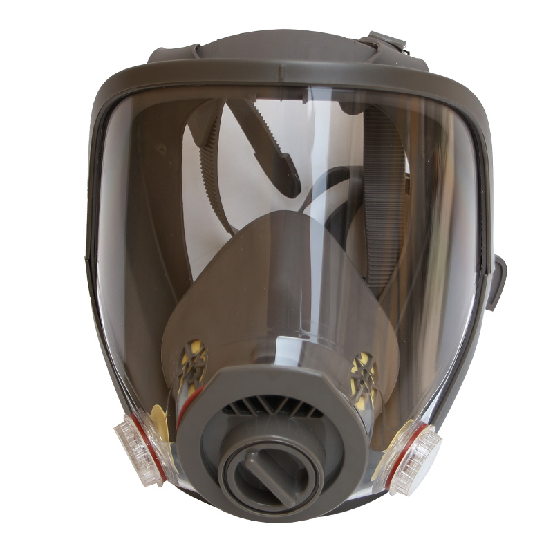 Large View 2 in 1 Function Full Face Flate View Facepiece Respirator Gas Mask Painting Spraying 9 in 1 suit gas mask half face respirator painting spraying for 3 m 7502 n95 6001cn dust gas mask respirator