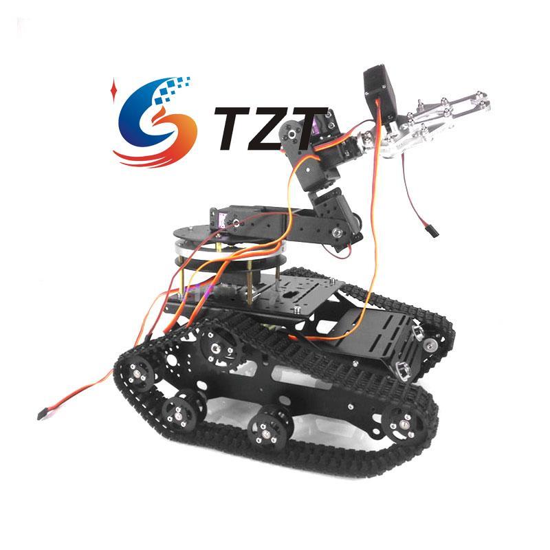TR300 Tank Car 6 DOF Mechnical Arm CL 1 Claw MG996R Servos with Gimbal Base
