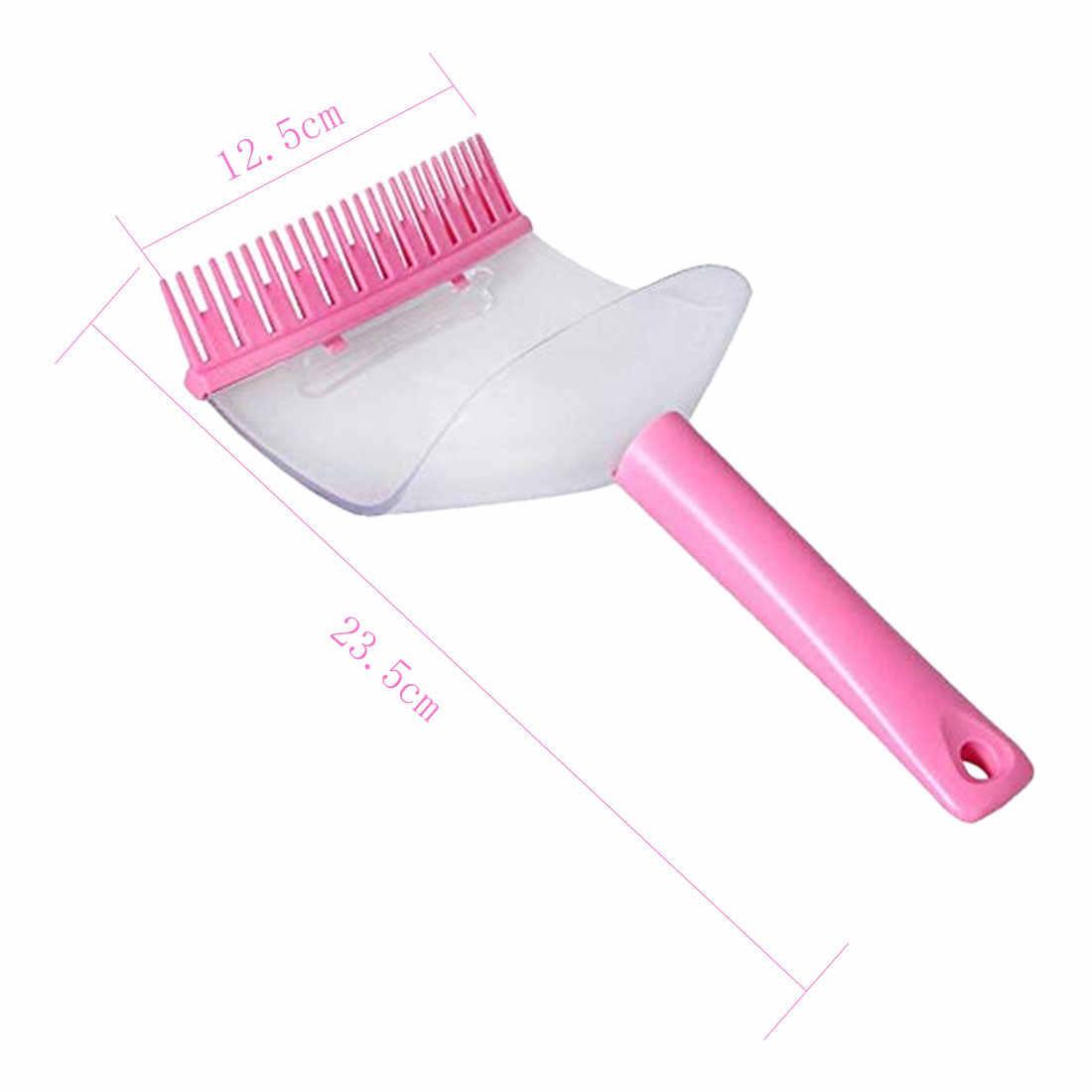 1 шт. челка Обрезка артефакт прозрачная стрижка расческа для челки инструмент для стрижки волос 2 в 1 машинка для стрижки волос Триммер Сторонник