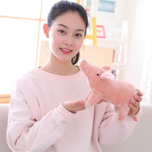 цены на Soft Toys Plush Stuffed Animals Kawaii 25cm Cute Year Of The Pig Pink Light Ty Mini Soft Toys For Baby Girl Children Sofa Pillow  в интернет-магазинах