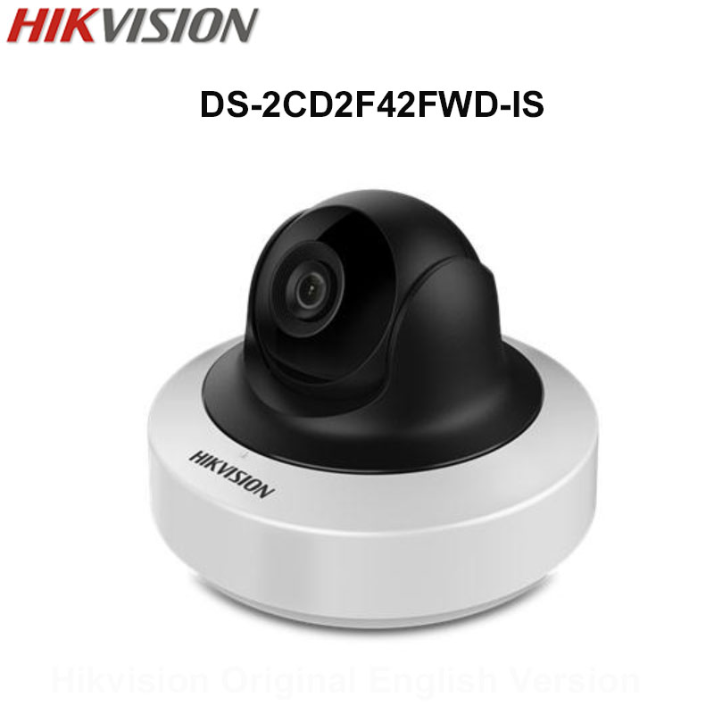In Stock Hikvision Original English Security Camera DS-2CD2F42FWD-IS 4MP  WDR Mini PT IP Camera POE Audio CCTV Camera 3D DNR 8mp ip camera cctv video surveillance security poe ds 2cd2085fwd is audio for hikvision dahua dvr hik connect ivm4200 camcorder