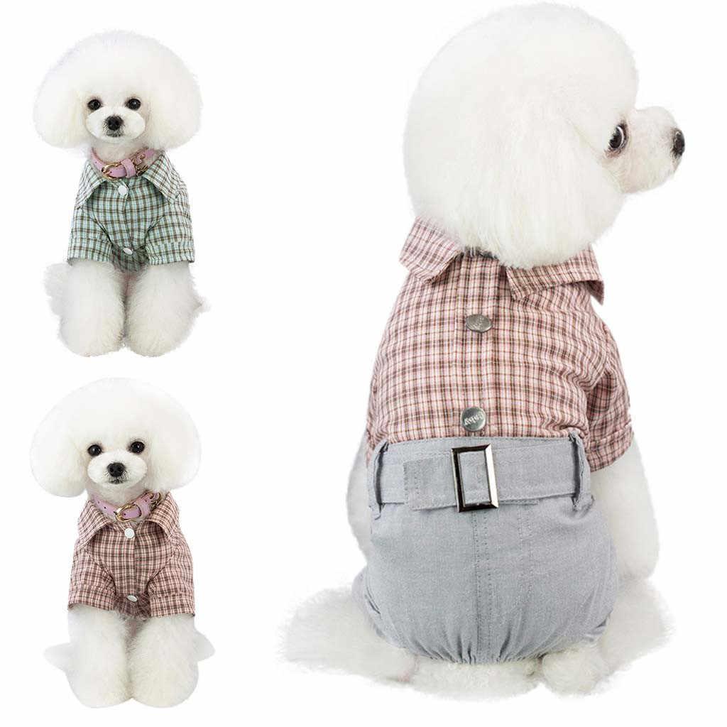 Trsnser Disfraz Perro Nuovo Animale Domestico Cani Vestiti del Cucciolo del Gatto Plaid Della Tuta Caldo Pigiama di Cotone Costume del Panno Del Cane 19Mer25 P35