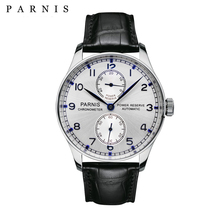 43mm Parnis Automatic Mens Watch Power Reserve Mechanical