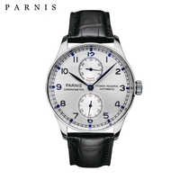 43mm Parnis Automatic Watch Power Reserve Mechanical Watches Classic Men Diver Watch Top Brand Luxury Men relogio masculino