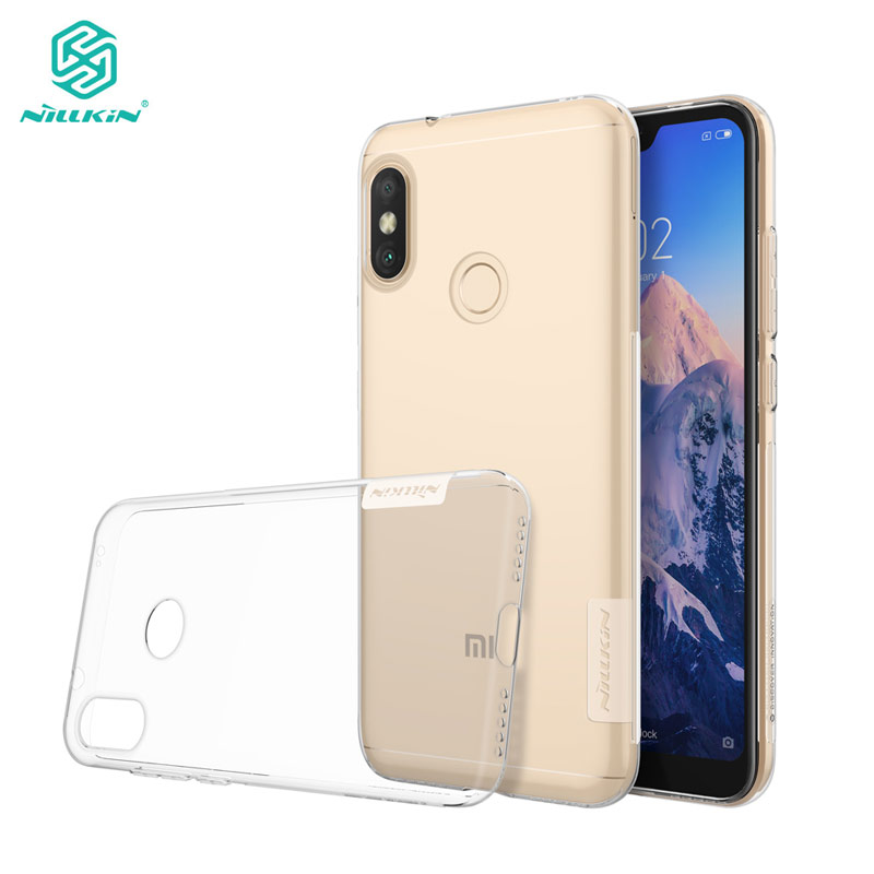 Redmi 6 Pro Case Nillkin Nature Series Transparent Clear Soft TPU Cover Case for Xiaomi Mi A2 Lite