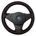 Tampa Da Roda de Direcção Do Carro de Couro Artificial preto para BMW 530i E60 E64 E63 635D