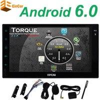 Android 6.0 Автомобильный Мультимедийный Плеер Автомобильные ПК Планшеты двойной 2 DIN GPS навигации автомобиля GPS стерео Радио Wi Fi Bluetooth Нет DVD/CD пле