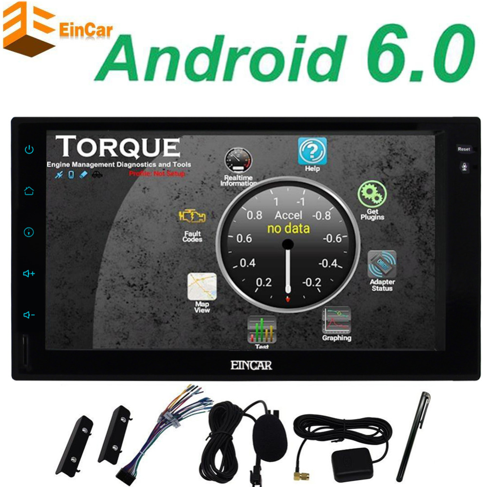 Android 6 0 Car font b Multimedia b font Player Car PC Tablet Double 2 din