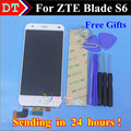 High Quality! New LCD Display + Digitizer Touch Screen Glass Assembly For ZTE Blade S6 / Q5 Cell Phone 5.0 inch White Color